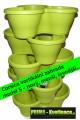 Zvětšit fotografii - Sada květináčů ELHO Corsica S vertikální zahrada -  sada 5, lime green