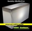 Zvětšit fotografii - Svítící květináč Christine Divisorio 80x30x47cm bílý