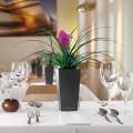 Prima-květináče Samozavlažovací květináče Lechuza Maxi Cubi - malý, elegantní, hranatý květináč samozavlažovací plastové venkovní závěsné