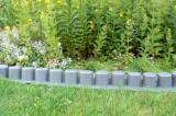 Zahradní obrubník, palisáda Happy Grass 4,05m šedá