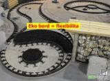Díky ohebnosti obrubníků Eko Bordu lze vytvořit snadno zajimavé tvary - kruhy a oblouky