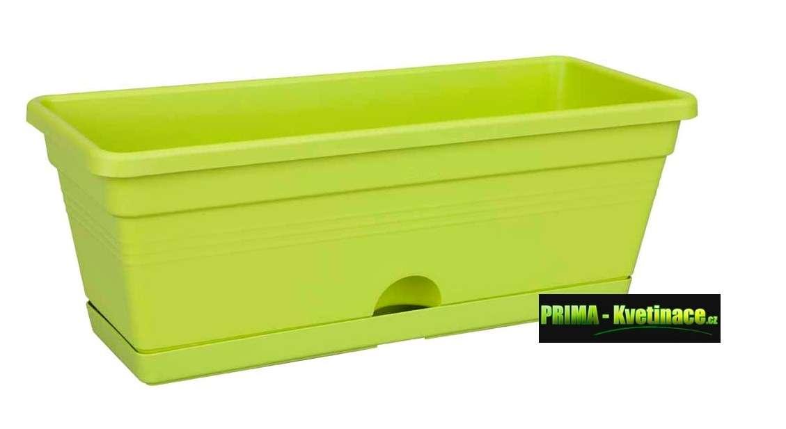 ELHO designový, barevný, plastový truhlík Elho s integrovaným zavlažovacím systémem, truhlík na parapet nebo do kuchyně