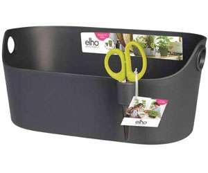 ELHO Elho Brussels Herbs - moderní, designový obal určený pro pěstování bylinek, součástí obalu jsou speciální nerezové nůžky