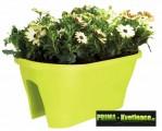 Prima-květináče Plastový truhlík na zábradlí ELHO Corsica Flower Bridge 60 samozavlažovací plastové venkovní závěsné