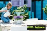 Prima-květináče sada na pěstování bylinek, bylinková zahrádka – to je vaše zdravá výživa, květináče na bylinky, pokojové rostliny, vhodné na pěstování jahod ELHO samozavlažovací plastové venkovní závěsné