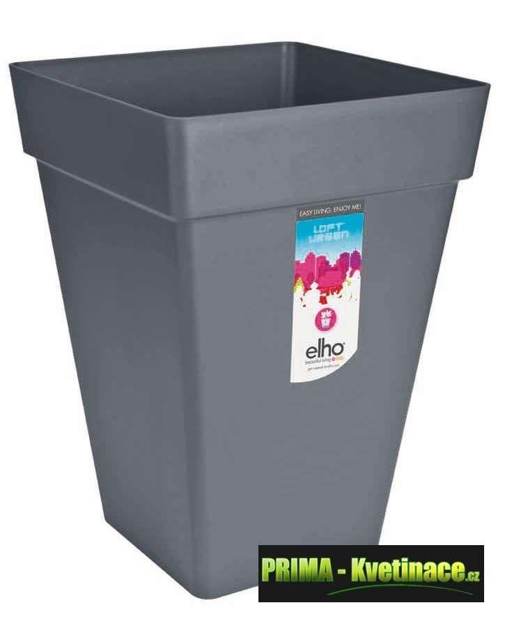 ELHO designový, barevný, hranatý, vysoký, moderní, plastový květináč Elho