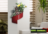 Prima-květináče unikátní, francouzký, designový, moderní květináč na stěnu, květináč na zeď Green Turn samozavlažovací plastové venkovní závěsné