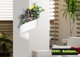 Prima-květináče unikátní, francouzký, designový, moderní květináč na stěnu, zelená galerie, živé, zelené obrazy na stěnu, zelené stěny, Květináč na stěnu Green Turn samozavlažovací plastové venkovní závěsné