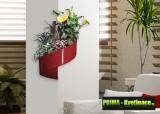 Prima-květináče unikátní, květináč na zeď, designový, moderní květináč na stěnu, zelená galerie, živé, zelené obrazy na stěnu, zelené stěny, nástěnný zelený obrázek Green Turn samozavlažovací plastové venkovní závěsné