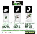 Prima-květináče unikátní, designový, moderní květináč na stěnu, zelená galerie, živé, zelené obrazy na stěnu, zelené stěny, nástěnný zelený obrázek Green Turn samozavlažovací plastové venkovní závěsné