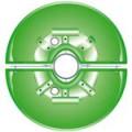 Květinová sestava na sloupy SKY 650mm zelená (2 půlmísy)