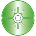 Květinová sestava na sloupy SKY 850mm zelená (2 půlmísy)