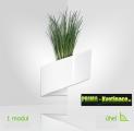 Květináč Modul'Green® bílý – 1 modul na vnitřní roh