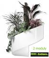 Květináč Modul'Green® bílý – 2 moduly na stěnu