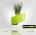 Dekorativní květináče Modul'Green® zelený – 1 modul na vnitřní roh
