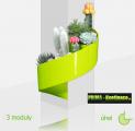 Designový květináč Modul'Green® zelený – 3 moduly na roh (sloup)