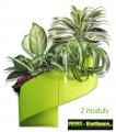 Květináč Modul'Green® zelený – 2 moduly na stěnu