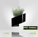 Květináč Modul'Green® černý – 1 modul na vnitřní roh