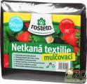 Netkaná mulčovací textilie 1,6 x 10m, 50g/ m2, černá