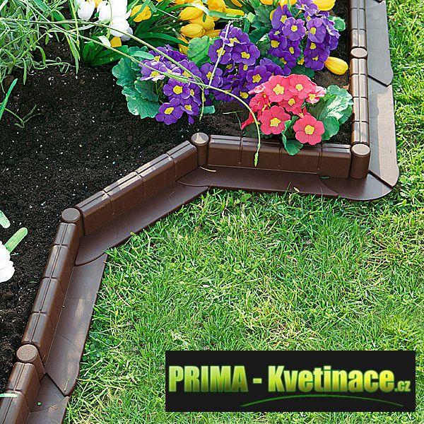 zahradní, plastový obrubník, palisády, neviditelný okraj trávníku, záhonu, plastové, zahradní obrubn