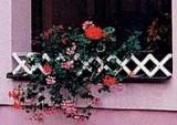 Prima-květináče okenní zahrádka na truhlíky, venkovní parapetní zahrádky, malé plastové zábradlí na truhlíky samozavlažovací plastové venkovní závěsné