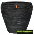Keramický květináč Capi® Nature (kónická váza) ø20x18cm černá