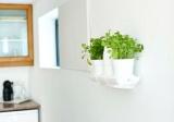 Prima-květináče nástěnná podpěra Minigarden® pro uchycení vertikálních květináčů Minigarden® na stěnu samozavlažovací plastové venkovní závěsné