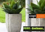 Prima-květináče keramický květináč Capi® Classic – moderní, interiérové, venkovní, designové, originální květníky, kamenné samozavlažovací plastové venkovní závěsné