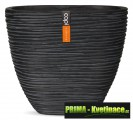 Keramická váza Capi® Nature 21x10x17cm černá