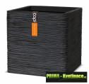Keramický květináč Capi® Nature (krychle) 30x30x30cm černá