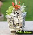 Prima-květináče zahradní, přírodní kamenné květináče z gabionů mohou nahradit kamenné nebo keramické květináče, přírodní kámen na zahradě samozavlažovací plastové venkovní závěsné
