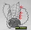 po uchycení obou hlavních vzpěr vložíme do horní části vnitřní vzpěry