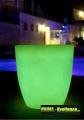 Prima-květináče Svítící zahradní plastový květináč – moderní venkovní osvětlení, velké svítící květináče samozavlažovací plastové venkovní závěsné
