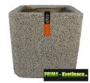Keramický květináč Capi® Nature Brix (krychle) 40x40x40cm sloní kost