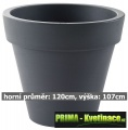 Květináč ELHO Pure Round 120 x 107cm antracit