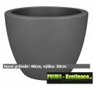 Květináč ELHO Pure Soft Round Wheels 40 x 30cm antracit
