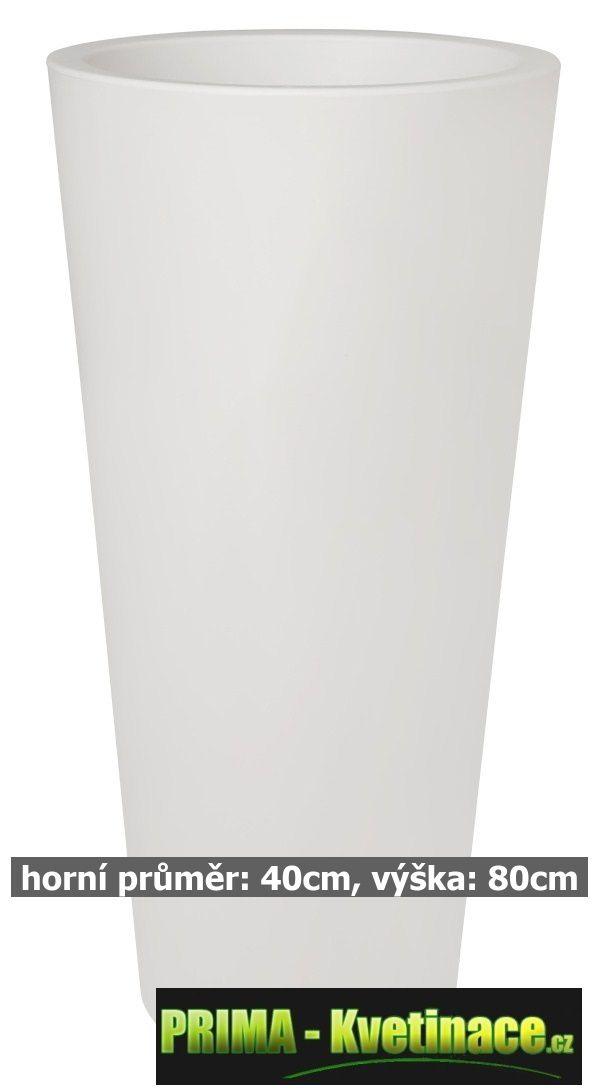 Prima-květináče Květináče ELHO Pure Straight Round High – moderní, venkovní, velké, vysoké, kulaté květináče, vonkajšie, veľké, kvetináče samozavlažovací plastové venkovní závěsné