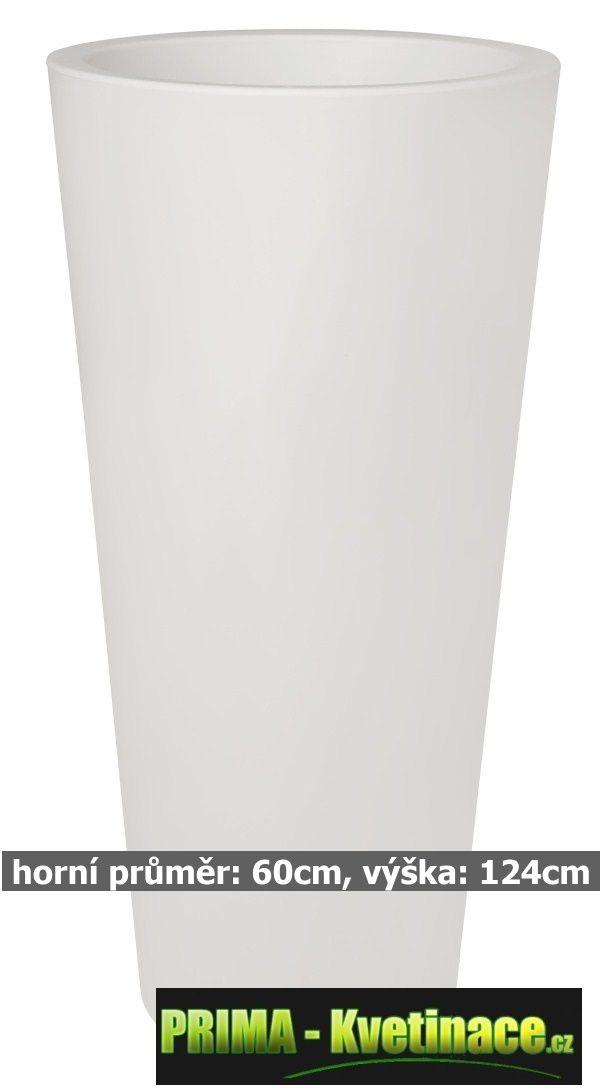 Prima-květináče Květináče ELHO Pure Straight Round High – moderní, venkovní, velké, vysoké, kulaté květináče, vonkajšie, veľké, kvetináče, květináče pro obce, restaurace a firmy samozavlažovací plastové venkovní závěsné