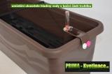 Prima-květináče Plastový, levný, kvalitní, samozavlažovací truhlík Gardenia samozavlažovací plastové venkovní závěsné