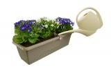 Prima-květináče Plastový, levný, kvalitní, samozavlažovací truhlík Gardenia, dekorativní květináče samozavlažovací plastové venkovní závěsné