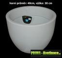Fluorescentní květináč Fluo Sophia round ø40x30cm bílá