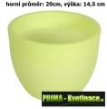 Fluorescentní květináč Fluo Sophia ø20x14,5cm round  světle zelená