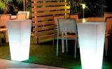 Prima-květináče Svítící zahradní plastový květináč – moderní venkovní osvětlení, velké svítící květináče na osvětlení zahrady samozavlažovací plastové venkovní závěsné