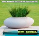 multifunkční květináč Storus III - 1140x730x390mm světlý granit