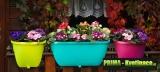 Prima-květináče balkonový truhlík, závěsné květináče na zábradlí, květináč na terasu samozavlažovací plastové venkovní závěsné