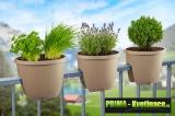 Prima-květináče balkonový truhlík, závěsné květináče na zábradlí, květináč na terasu, závěsné truhlíky na zábradlí samozavlažovací plastové venkovní závěsné