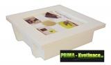 nástěnný květináč živý obrázek 25x25xcm bílý