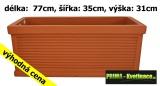 Plastový truhlík Marco Stripe 77x35x31cm terakota