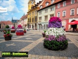 Prima-květináče květinová vertikální pyramida, květinové věže do měst a obcí, květinová sestava – moderní výzdoba veřejných prostranství, kaskádové zahrady samozavlažovací plastové venkovní závěsné