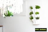 Prima-květináče sada k uchycení rohových setů Minigarden® na stěnu, vertikální zahrada interiér samozavlažovací plastové venkovní závěsné